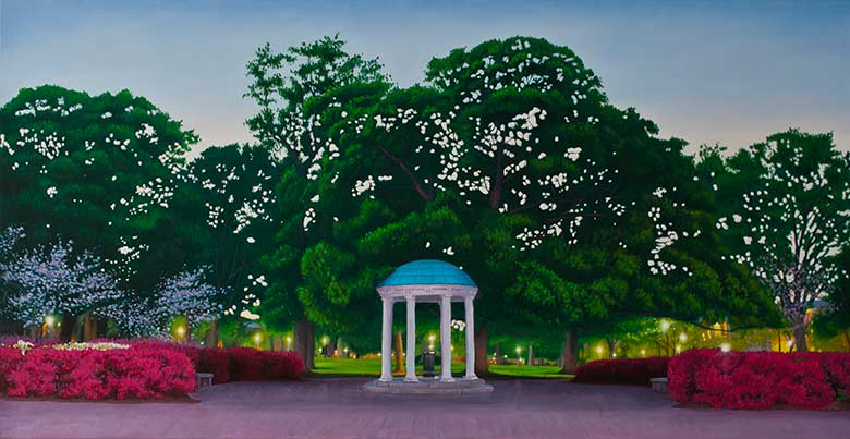 Painting of The Old Well at UNC